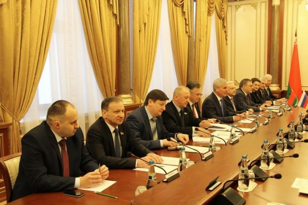 Встреча Председателя Палаты представителей Национального собрания Республики Беларусь с Председателем Совета Федерации Федерального Собрания Российской Федерации