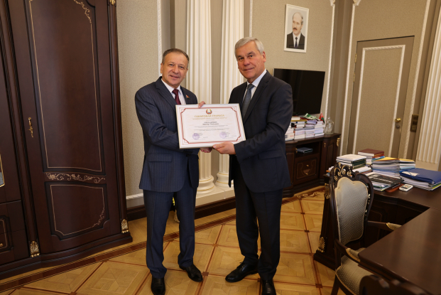 Виктор Николайкин награждён Почётной грамотой Национального собрания Республики Беларусь