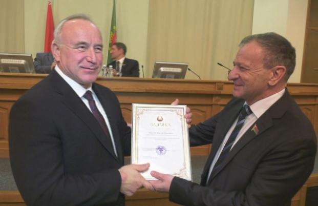 Вручение Благодарности Председателя Палаты представителей Национального собрания Беларуси